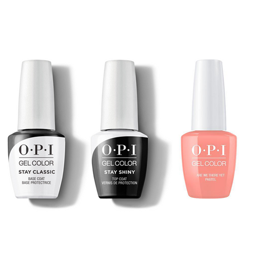 OPI - GelColor Combo - Stay Classic Base, Shiny Top & Are We There Yet? (Pastel)