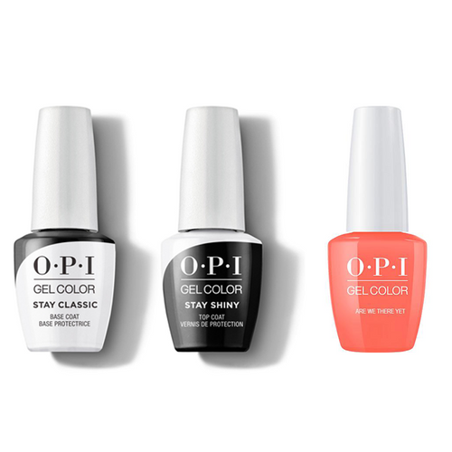 OPI - GelColor Combo - Stay Classic Base, Shiny Top & Are We There Yet?