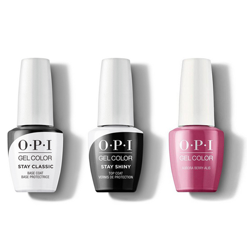 OPI - GelColor Combo - Stay Classic Base, Shiny Top & Aurora Berry-alis
