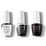 OPI - GelColor Combo - Stay Classic Base, Shiny Top & Black Cherry Chutney