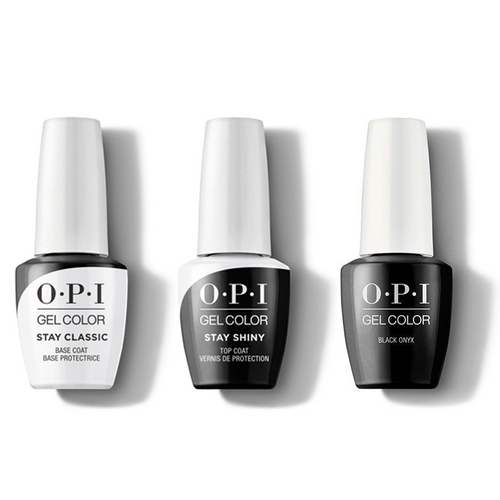 OPI - GelColor Combo - Stay Classic Base, Shiny Top & Black Onyx