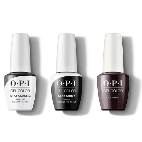 OPI - GelColor Combo - Stay Classic Base, Shiny Top & Black To Reality