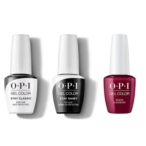 OPI - GelColor Combo - Stay Classic Base, Shiny Top & Bogota Blackberry