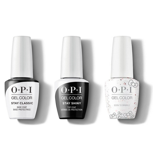 OPI - GelColor Combo - Stay Classic Base, Shiny Top & Born To Sparkle