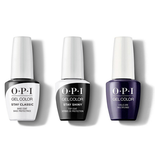 OPI - GelColor Combo - Stay Classic Base, Shiny Top & Chills Are Multiplying!