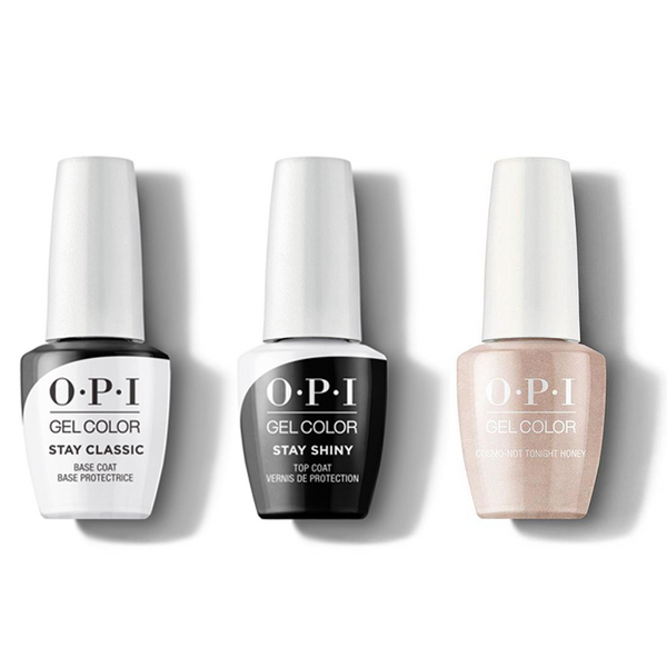 OPI - GelColor Combo - Stay Classic Base, Shiny Top & Cosmo-Not Tonight Honey!