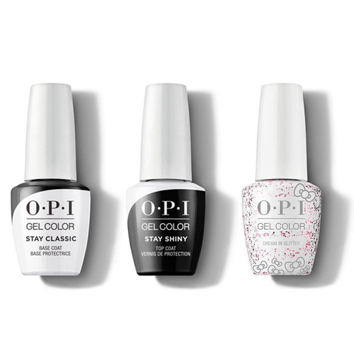 OPI - GelColor Combo - Stay Classic Base, Shiny Top & Dream In Glitter