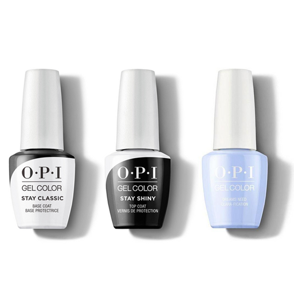OPI - GelColor Combo - Stay Classic Base, Shiny Top & Dreams, Need Clara-Fication