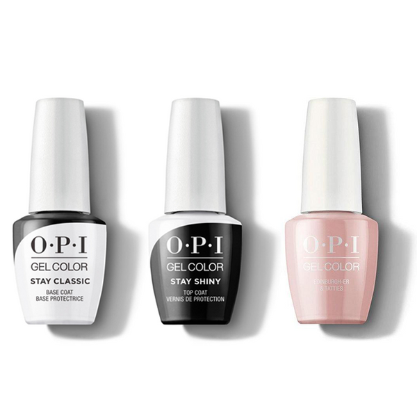 OPI - GelColor Combo - Stay Classic Base, Shiny Top & Edinburgh-er & Tatties