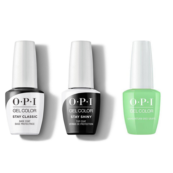 OPI - GelColor Combo - Stay Classic Base, Shiny Top & Gargantuan Green Grape