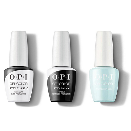 OPI - GelColor Combo - Stay Classic Base, Shiny Top & Gelato on My Mind