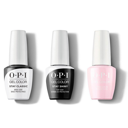 OPI - GelColor Combo - Stay Classic Base, Shiny Top & Getting Nadi On My Honeymoon