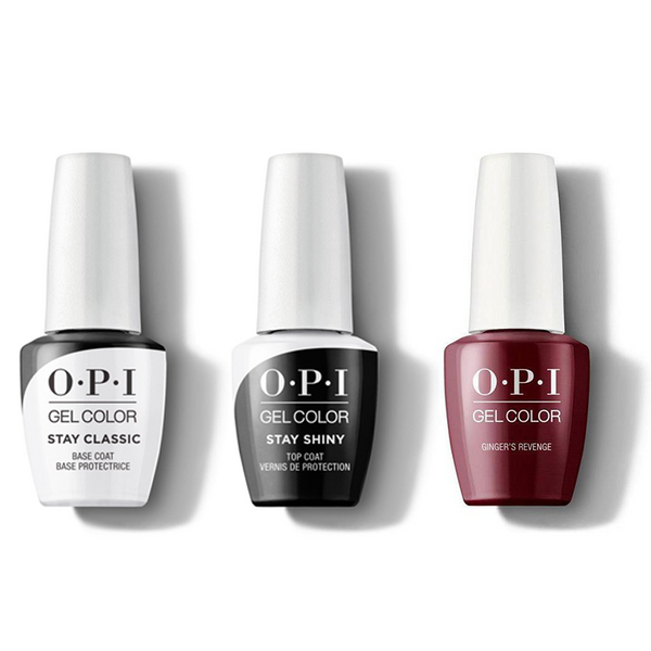 OPI - GelColor Combo - Stay Classic Base, Shiny Top & Gingers Revenge