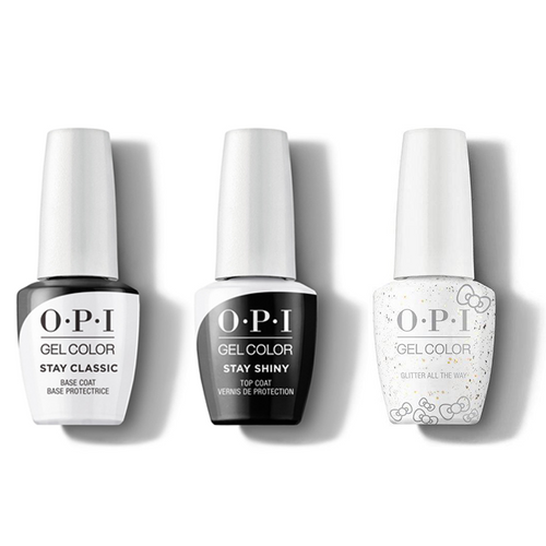 OPI - GelColor Combo - Stay Classic Base, Shiny Top & Glitter All The Way