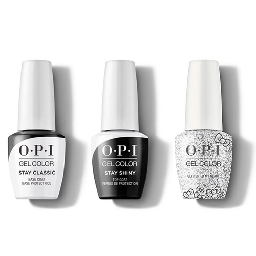 OPI - GelColor Combo - Stay Classic Base, Shiny Top & Glitter To My Heart