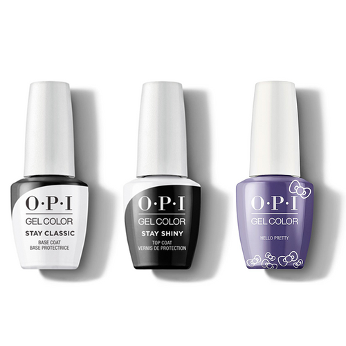 OPI - GelColor Combo - Stay Classic Base, Shiny Top & Hello Pretty