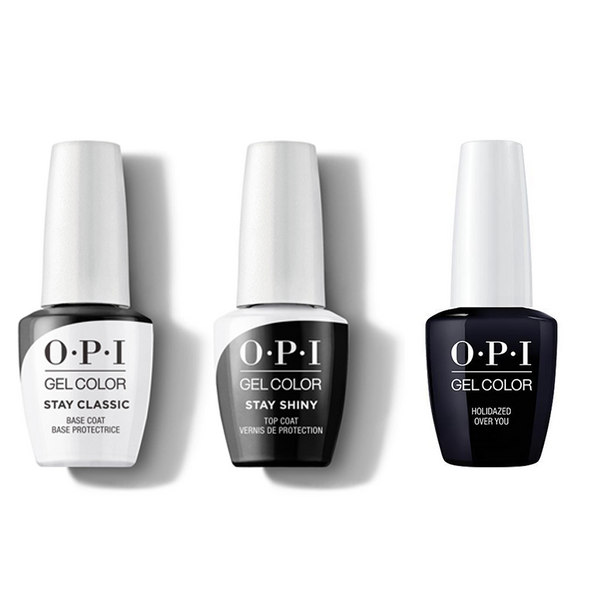 OPI - GelColor Combo - Stay Classic Base, Shiny Top & Holidazed Over You