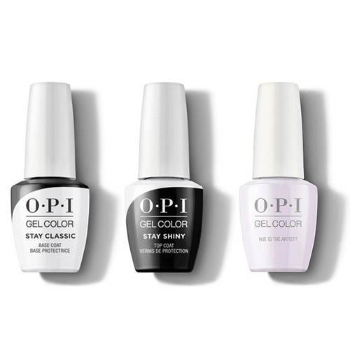 OPI - GelColor Combo - Stay Classic Base, Shiny Top & Hue Is The Artist?