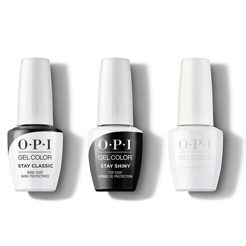 OPI - GelColor Combo - Stay Classic Base, Shiny Top & I Cannoli Wear OPI