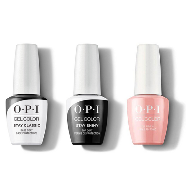 OPI - GelColor Combo - Stay Classic Base, Shiny Top & Ill Have a Gin & Tectonic