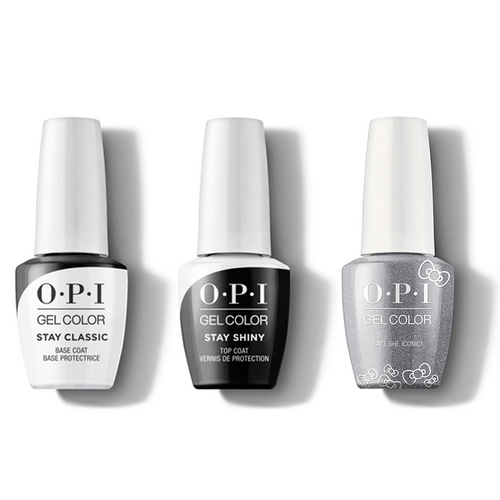 OPI - GelColor Combo - Stay Classic Base, Shiny Top & Isn't She Iconic!