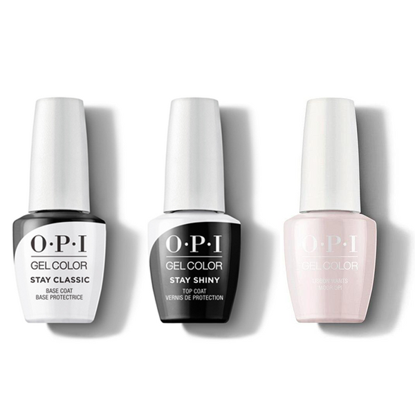 OPI - GelColor Combo - Stay Classic Base, Shiny Top & Lisbon Wants Moor OPI