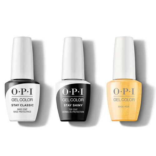 OPI - GelColor Combo - Stay Classic Base, Shiny Top & Magic Hour