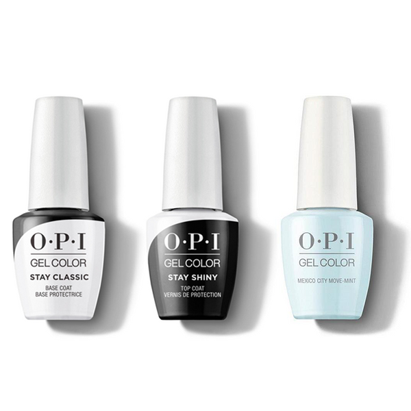 OPI - GelColor Combo - Stay Classic Base, Shiny Top & Mexico City Move-mint