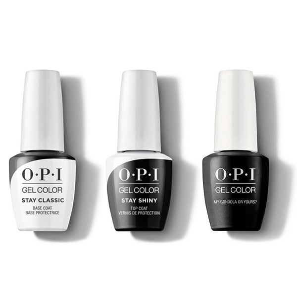OPI - GelColor Combo - Stay Classic Base, Shiny Top & My Gondola or Yours