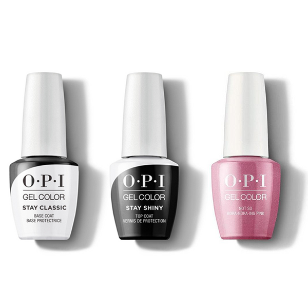 OPI - GelColor Combo - Stay Classic Base, Shiny Top & Not So Bora-Bora-ing Pink