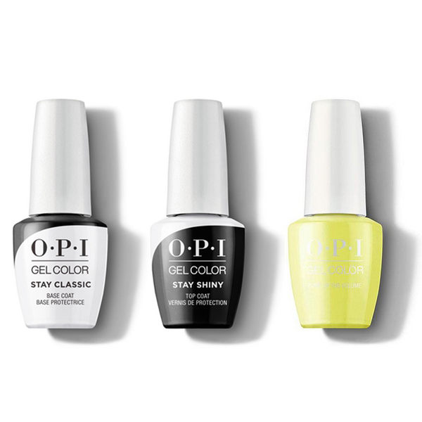 OPI - GelColor Combo - Stay Classic Base, Shiny Top & PUMP Up the Volume