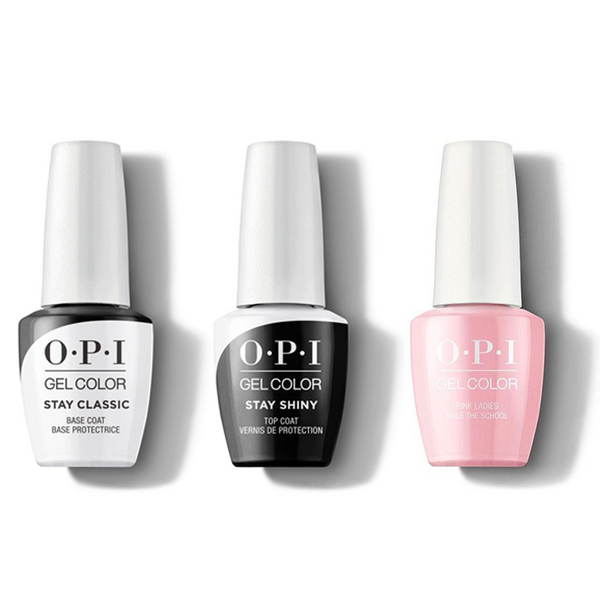 OPI - GelColor Combo - Stay Classic Base, Shiny Top & Pink Ladies Rule The School