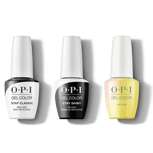 OPI - GelColor Combo - Stay Classic Base, Shiny Top & Ray-diance