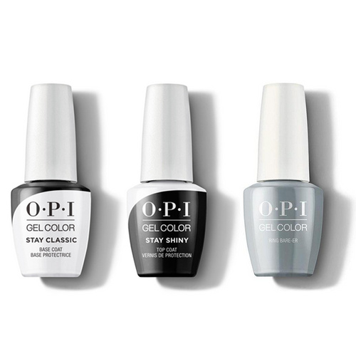OPI - GelColor Combo - Stay Classic Base, Shiny Top & Ring Bare-er
