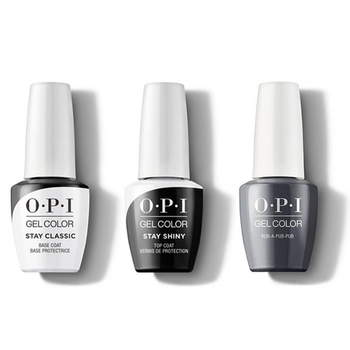 OPI - GelColor Combo - Stay Classic Base, Shiny Top & Rub-a-Pub-Pub