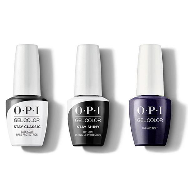 OPI - GelColor Combo - Stay Classic Base, Shiny Top & Russian Navy