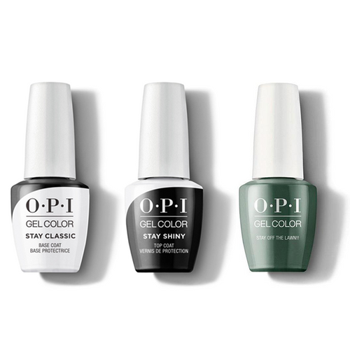 OPI - GelColor Combo - Stay Classic Base, Shiny Top & Stay Off the Lawn!!