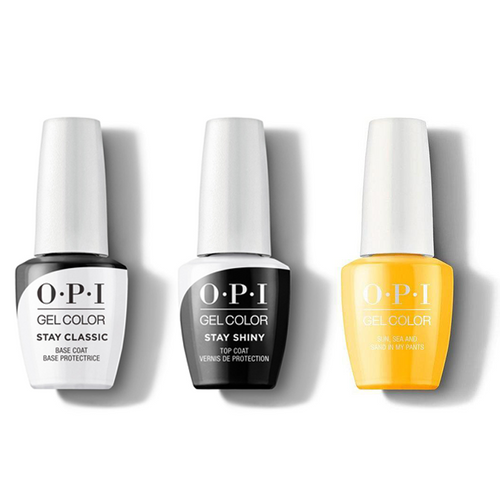 OPI - GelColor Combo - Stay Classic Base, Shiny Top & Sun, Sea, and Sand in My Pants