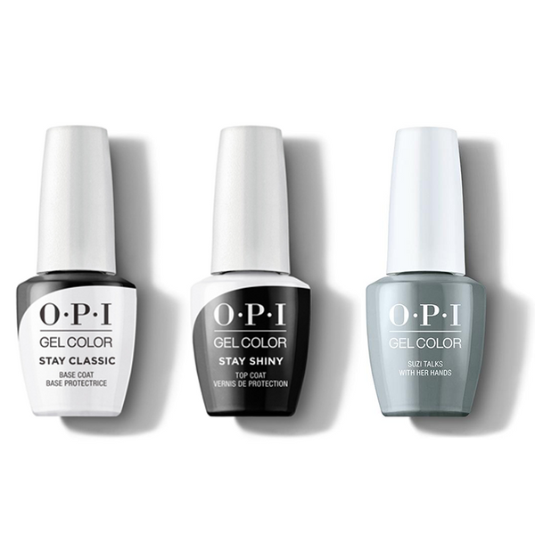 OPI - GelColor Combo - Stay Classic Base, Shiny Top & Suzi Talks With Her Hands