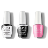 OPI - GelColor Combo - Stay Classic Base, Shiny Top & Two-Timing the Zones