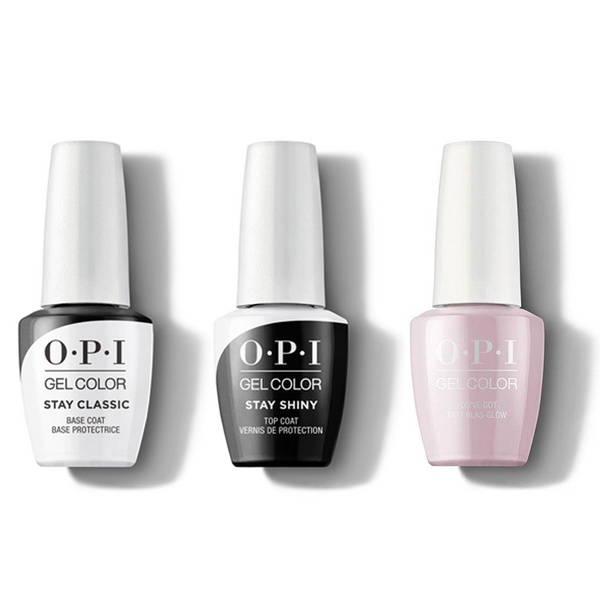 OPI - GelColor Combo - Stay Classic Base, Shiny Top & You've Got That Glas-glow