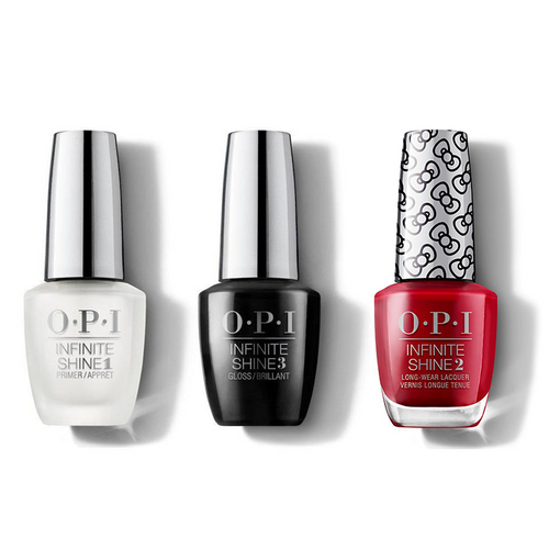 OPI - Infinite Shine Combo - Base, Top & A Kiss On The Chic - #HRL36