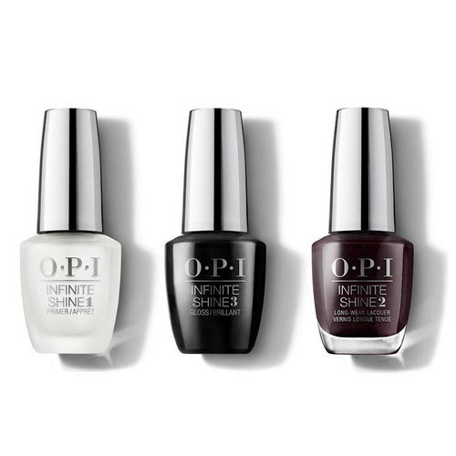 OPI - Infinite Shine Combo - Base, Top & Black To Reality 0.5 oz - #ISHRK27