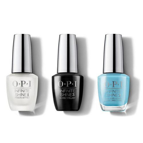 OPI - Infinite Shine Combo - Base, Top & Can't Find My Czechbook - #ISLE75