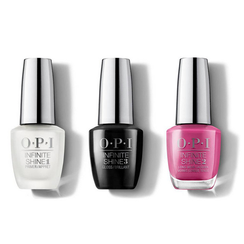 OPI - Infinite Shine Combo - Base, Top & No Turning Back From Pink Street 0.5 oz - #ISLL19
