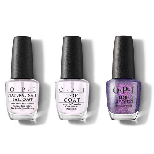 OPI - Nail Lacquer Combo - Base, Top & Leonardo's Model Color 0.5 oz - #NLMI11