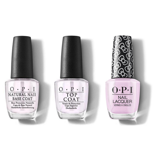 OPI - Nail Lacquer Combo - Base, Top & A Hush Of Blush 0.5 oz - #HRL02