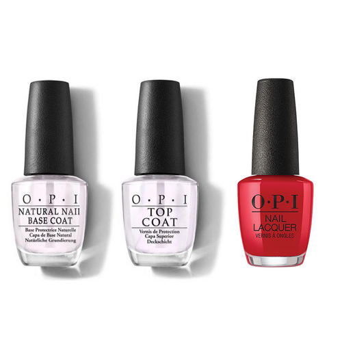 OPI - Nail Lacquer Combo - Base, Top & Adam said It's New Year's, Eve 0.5 oz - #NLH70