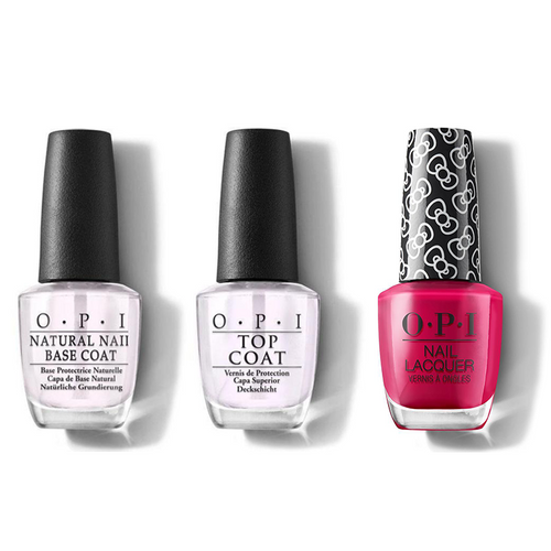 OPI - Nail Lacquer Combo - Base, Top & All About The Bows 0.5 oz - #HRL04