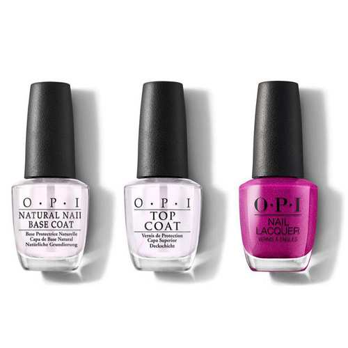 OPI - Nail Lacquer Combo - Base, Top & All Your Dreams in Vending Machines 0.5 oz - #NLT84